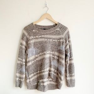 Design Lab Lord & Taylor Distressed Sweater